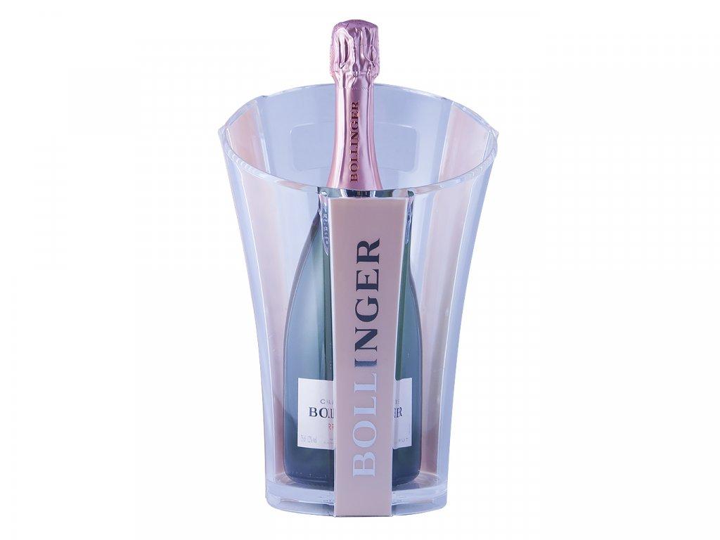 Dvoubarevný chladič na víno Bollinger (růžová/čirá)