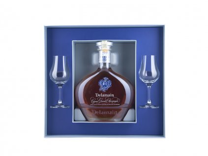 Delamain Extra 40 YO, 2 Crystal glasses in deluxe gift box